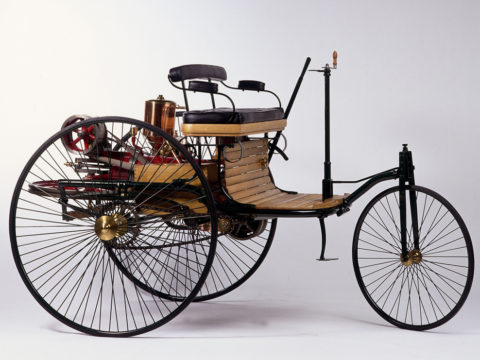 Benz Patent-Motorwagen, 1886 (Nachbau). Bildnachweis: Daimler AG