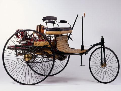 Benz Patent-Motorwagen, 1886 (Nachbau). Bildnachweis: Daimler AG