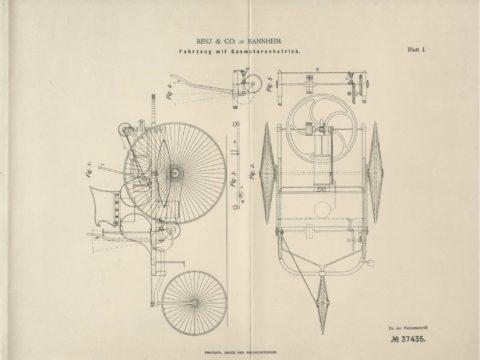 Patentzeichnung, Bildquelle: Mercedes-Benz Classic © Daimler AG